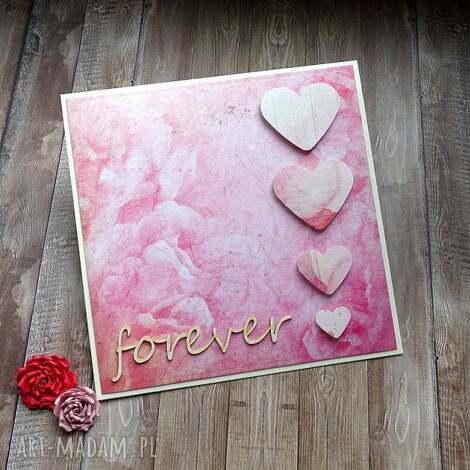 Ślubne forever - życzenia ślubne, serca, forever, miłość