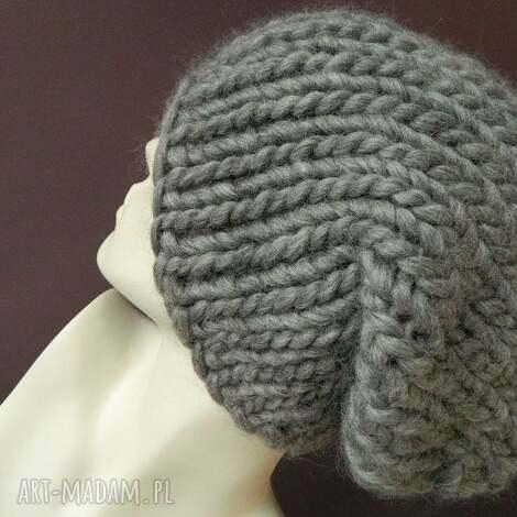 syberianka 100 wool czapa szary melanŻ - ciepła, melanżowa