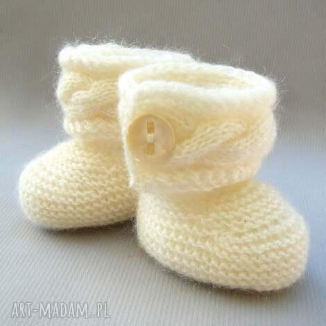 buciki botki, buciki, niemowlę, wełna, włóczka, druty dla dziecka