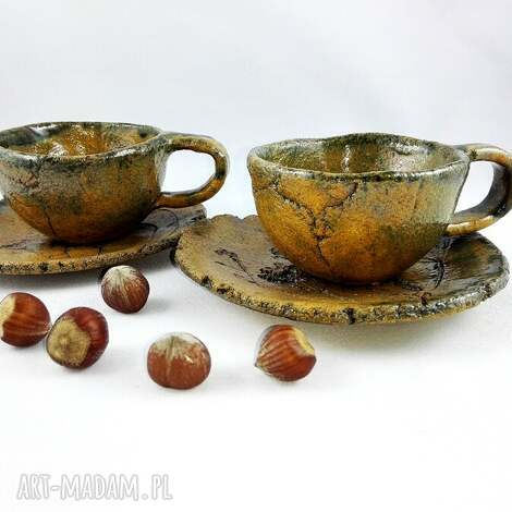 ceramika filiżanki 2 szt, filiżanka, dekoracje, sztuka, kawa, prezent, kuchnia