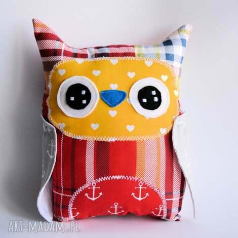 sowa średnia piotruś - sowa, dziecko, morze, zabawka, maskotka, poduszka