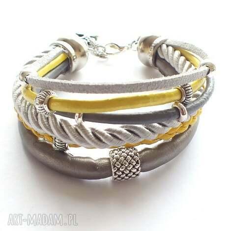 bransoleta słońce księżyc, rzemienie, sznurki, biżuteria