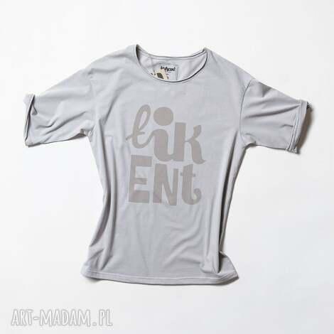 łikent koszulka szara unisex, tshirt, koszulka, napis, nadruk, oversize