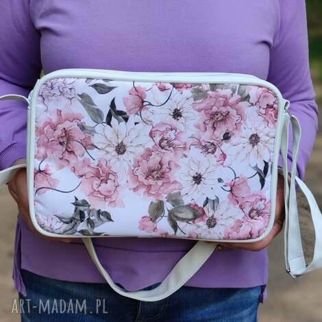 single bag - kwiaty akwarela, kwiaty, prezent, święta, elegancka