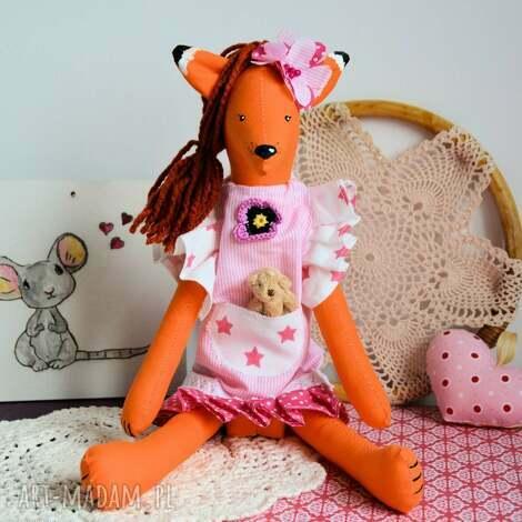 lisek - słodka dama - michalina - 40 cm, dziewczynka, wyjątkowy unikat, urodziny