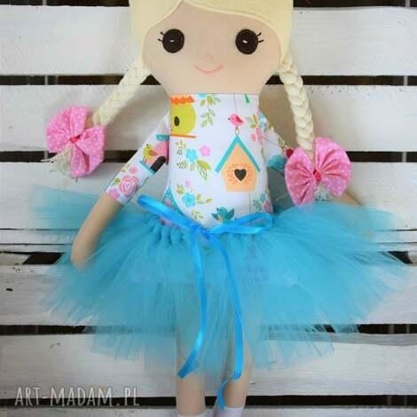 szmacianka, szmaciana laleczka w spódniczce tutu, lalka, szmaciana, lala
