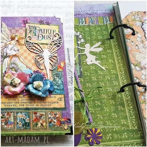 pamiętnik/ sekretnik / enchanted garden, notes, pamiętnik, motyl, skrzydła