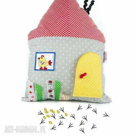 domek sensoryczny mały - poduszka, przytulanka, maskotka, domek, sensoryczny, zabawka