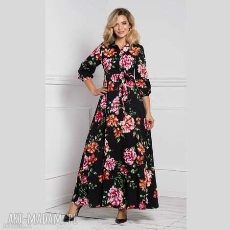 sukienka alana maxi afrodyta, maxi, w kwiaty, jesienna