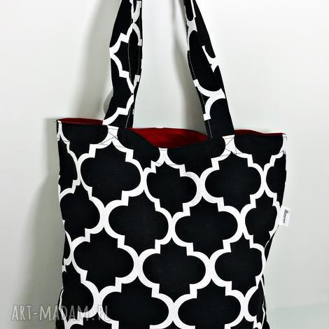 torba na zakupy ekologiczna shopperka maroko czarne, torba