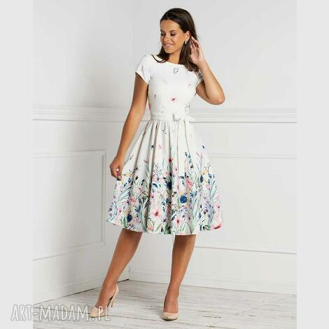 sukienka page mini aurorra, midi, rozkloszowana