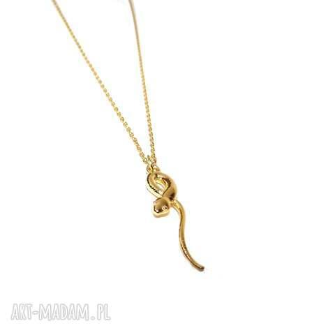 naszyjnik wąż żmija - łańcuszek, żmijka, wąż, celebrytka