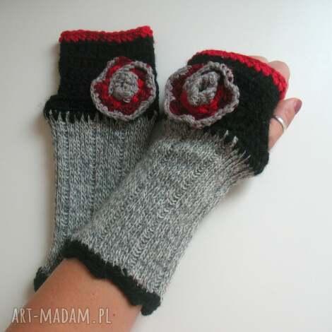 rękawiczki mitenki - rękawiczki, mitenki, włóczkowe, dodatki, akcesoria