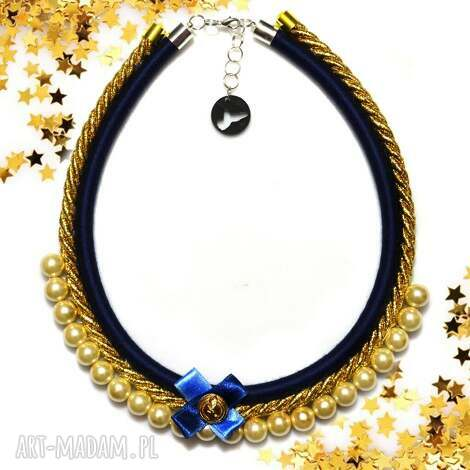kolia naszyjnik tiffi blue - kolia, naszyjnik, elegancki, perły, prełki, glam