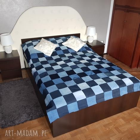 ea0420dc1a6d75 koce i narzuty #8 narzuta na łóżko dżinsowa vintage ...