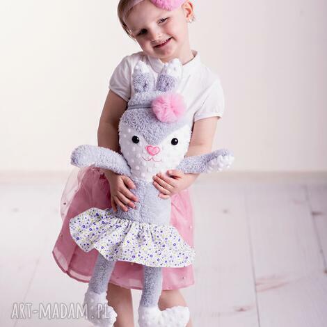 maskotki przytulanka dziecięca królik w spódniczce, poduszka-dziecięca