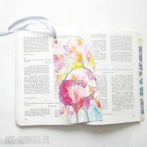 eleganckie zakładki do książek, pastelowe zakładki, ładne z kwiatami