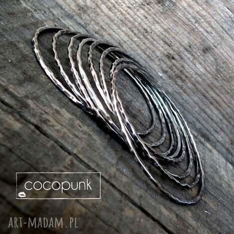 bransoleta okrągła bangle- srebro.cieńsza. - bransoletka bangle