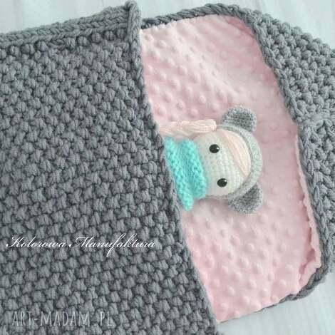 Śpiworek do wózka elena cieplutki handmade - śpiworek, dladziecka, cieły