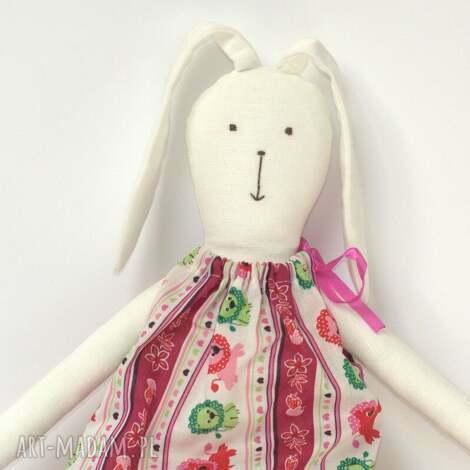 króliczek w różowej sukience, króliczek, zajączek, zając, wielkanocny, przytulanka