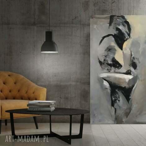 lovers 100x70, duży obraz para kochanków, subtelny para, zakochani