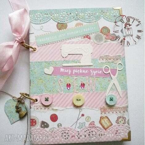 stylowy notatnik dla miłośniczek szycia i życia, notes, kobiecy, dziennik, zapiski