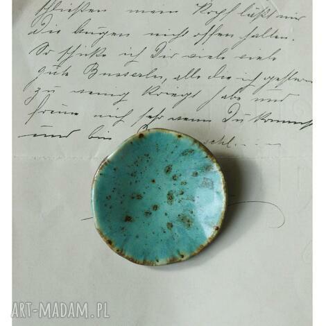 broszka niebieska niecka, ceramika