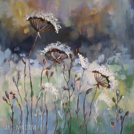 jesienna łąka -obraz akrylowy formatu 30/40cm, akryl, łąka, jesień, obraz