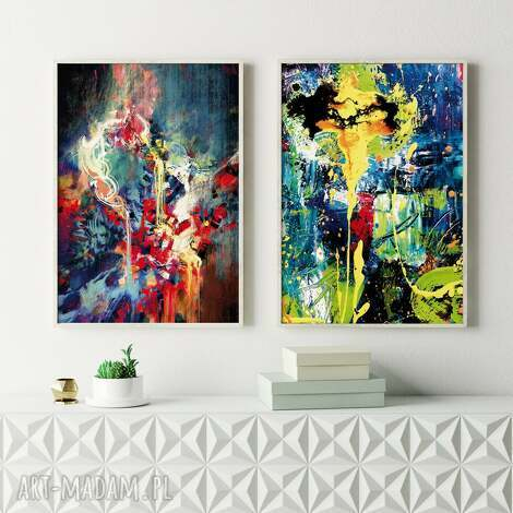 plakaty zestaw abstrakcji - 61x91cm, plakatów, plakat