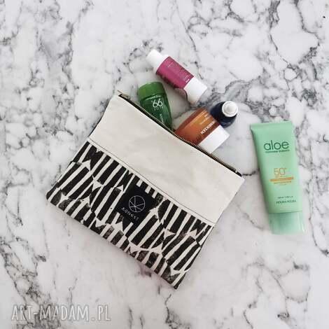 kosmetyczka bawełniana mała print, ekologiczny prezent, hand made