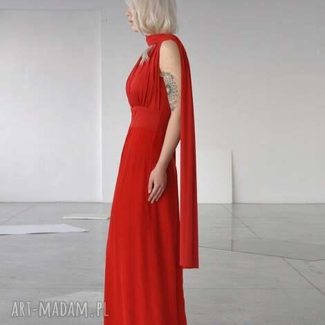 sukienki kona - wyjątkowa, długa, szarfy, wizytowa, elegancka, kobieca, wyjątkowa