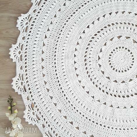 pod choinkę prezenty, dywan mandala lace, dywan, okrągły