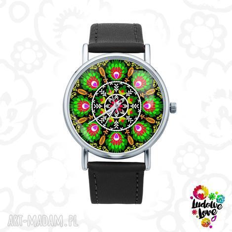 zegarki zegarek z grafiką wycinanka łowicka, polski, folkor, folk, wzory, ludowe
