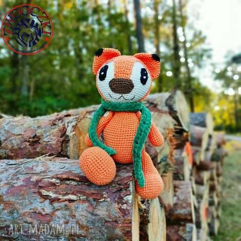 zabawki jesienny lisek, szydełkowa maskotka, lis, szydełkowy, jesień