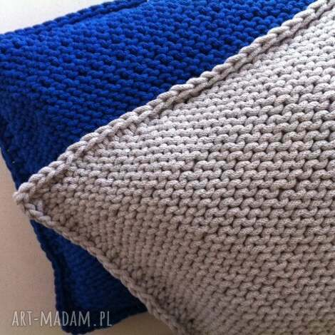 poduszki poduszka gruba 3d, handmade, bawełna, natural, loft dom