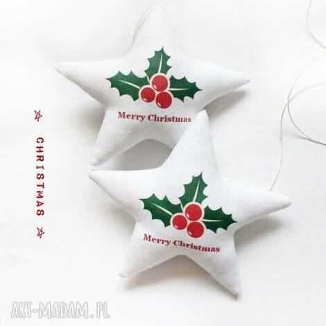 christmas -komplet dwóch gwiazdeczek do zawieszenia, święta, zawieszka, gwiazdka