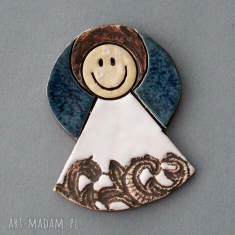 aniołek-magnes ceramiczny, lodówka, chrzest, komunia, prezent, upominek