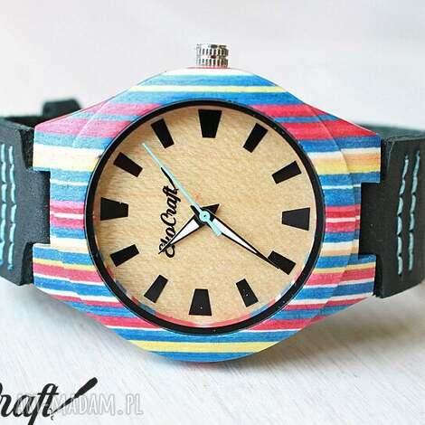 damski drewniany zegarek parrot, deska, skateboard, zegarek, drewniany, oryginalny