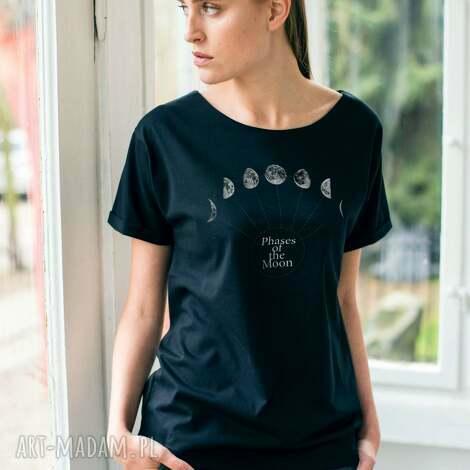 phases of the moon oversize t-shirt, koszulki