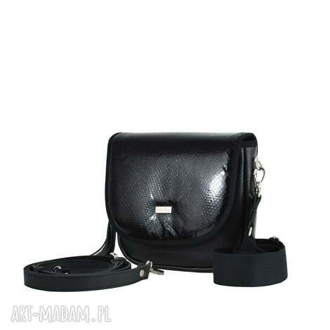 torebka puro saszka 2513 black scales leather, saszka, torebki puro, na codzień