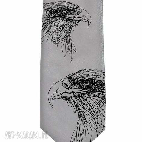 krawat z orłem, krawat, orzeł, orły, śledzik, nadruk, prezent