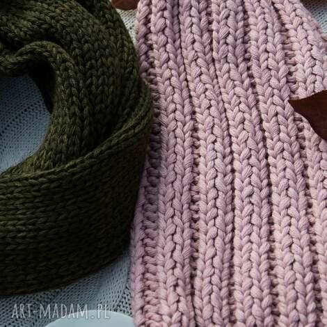 czapka handmade - czapka, zrobiona na drutach, wełna, ciepła
