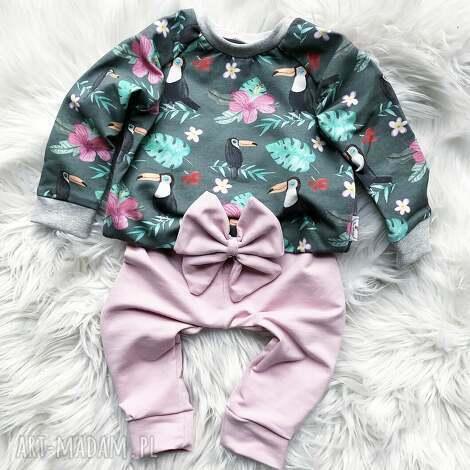 slow village bluza i spodnie dresowe tukan, dres dla dziecka, dziewczęc