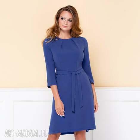 sukienka nicole niebieska - sukienka-do-pracy, elegancka-sukienka, sukienki-como