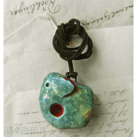oryginalny prezent, wylegarnia pomyslow wisior słonik, ceramika, słoń, wisior