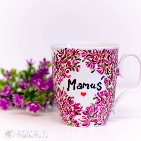 kubek ręcznie malowany magnolia dzień matki, malowany