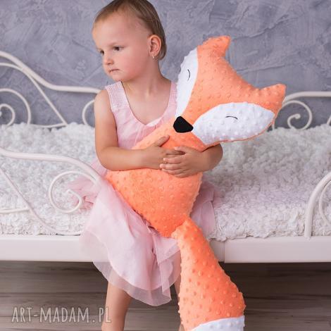 przytulanka dziecięca lisek, dekoracja-pokoju, pomysł-na-prezent, przytulanka-lisek