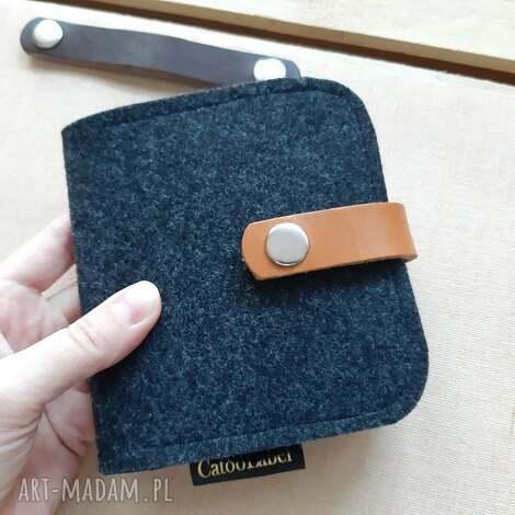 portfel z wymiennym zapięciem, portfel, na prezent, filcu