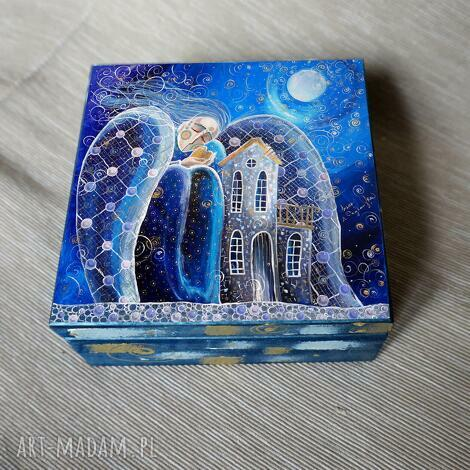 szkatułka dom to miejsce, gdzie zaczynają się, anioł, dom, szkatułka, pudełko
