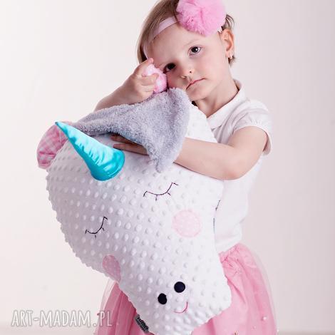 poduszka dziecieca jednorożec, jednorożec maskotka, koń poduszka, koń hand